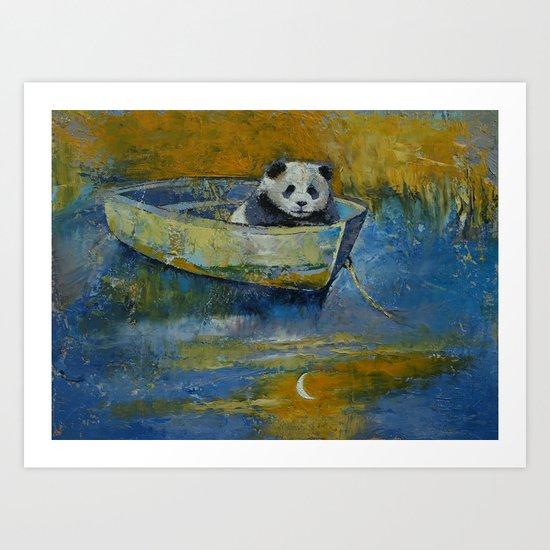 Panda Sailor Art Print