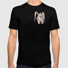 Pocket Bunny Black MEDIUM Mens Fitted Tee