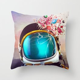 Mental Eruption Throw Pillow