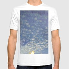 The Sky Is The Limit White Mens Fitted Tee MEDIUM