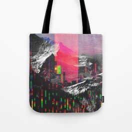 Mountain Glitch II Tote Bag