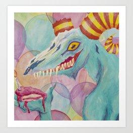 Monster Party! Art Print
