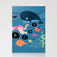 swimming Stationery Cards featuring Swimming by Sugar Snap Studio