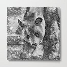AnimalArtBW_Panda_20170706_by_JAMColorsSpecial Metal Print