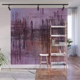 Purple / Violet Painting in Minimalist and Abstract Style Wall Mural