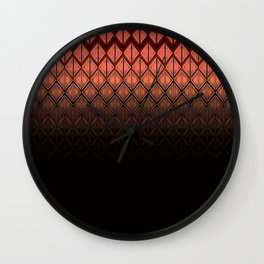 Future Scales Red Wall Clock