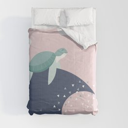 turtle - ride the wave Comforters