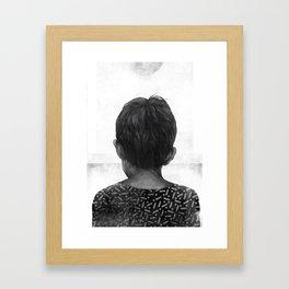 Boy and the Sun Framed Art Print