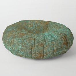 Green Patina Copper rustic decor Floor Pillow