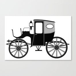 Old Style Carriage Canvas Print