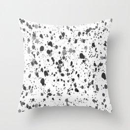 Splat in Ink Throw Pillow