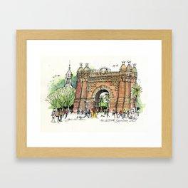 Arc de Triomf, Barcelona Framed Art Print