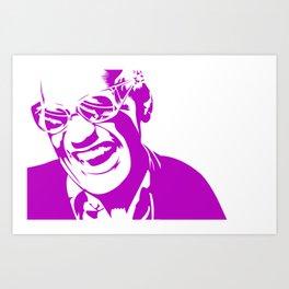 Ray Charles – Pink Art Print
