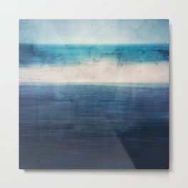 Abstract Seascape No 3 Metal Print