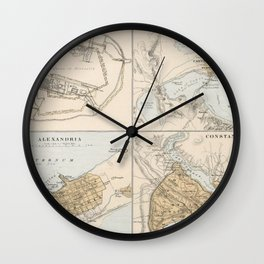 Ancient Cities of The Mediterranean and Middle East (1874) Wall Clock