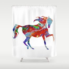Horse Colorful Silhouette Shower Curtain