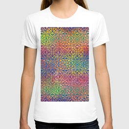DP050-1 Colorful Moroccan pattern T-shirt