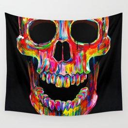 Chromatic Skull Wall Tapestry