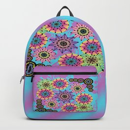 Vibrant Abstract Floral Pattern Backpack
