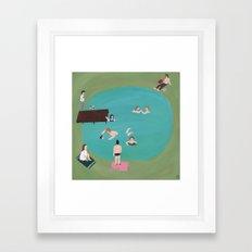 At the Quarry Pond Framed Art Print