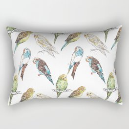 Budgies Budgies Budgies Rectangular Pillow