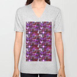 Circles and Squares, Oh, My Unisex V-Neck