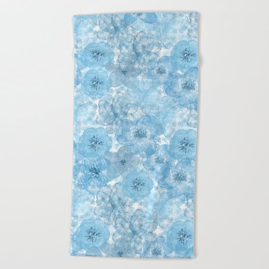 Turquoise aqua flower lace pattern on #Society6 Beach Towel