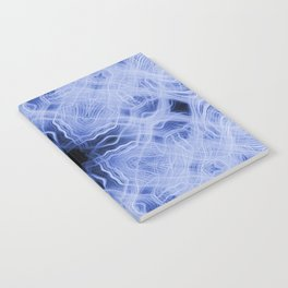 Blue cross light trails pattern Notebook