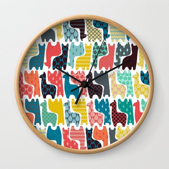 baby llamas Wall Clock