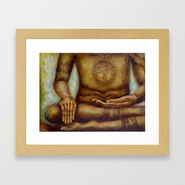 """Touching the Earth Mudra"" Framed Art Print"