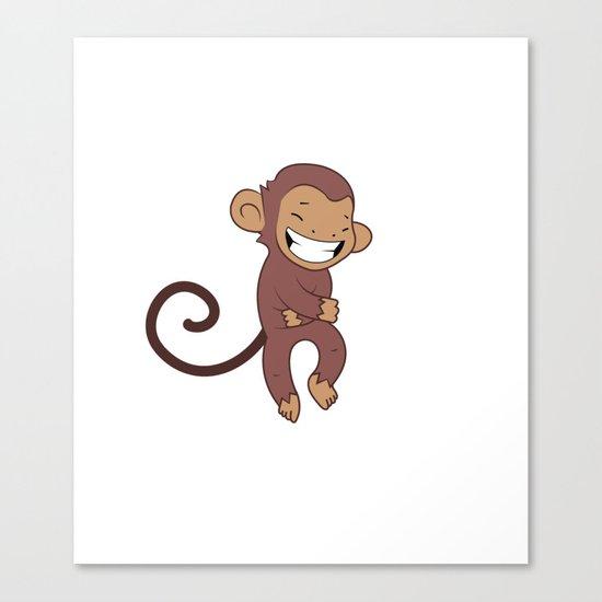 Laughing monkey Canvas Print