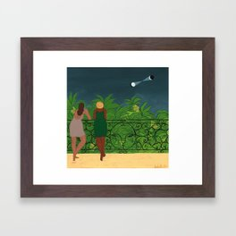 the Observers in the Night Framed Art Print