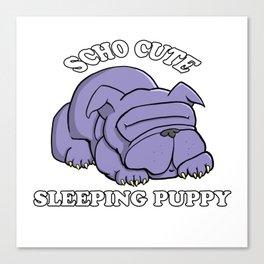 SCHO CUTE SLEEPING PUPPY Canvas Print