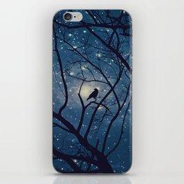 Moon light Crow iPhone Skin
