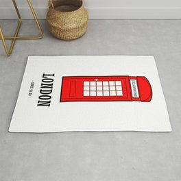 London Phone Booth Rug