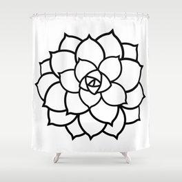 Simple Succulent Shower Curtain