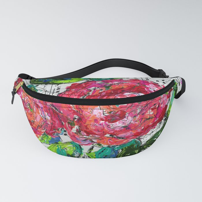 Melody - Floral - Piano notes Fanny Pack