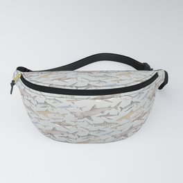 Watercolour shark pattern on pale blue Fanny Pack