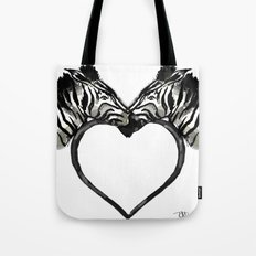 Zebra Love Tote Bag