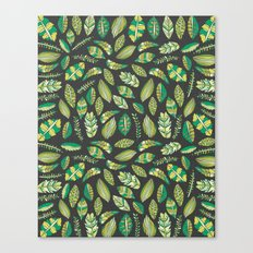 Night Tropical Jungle Canvas Print