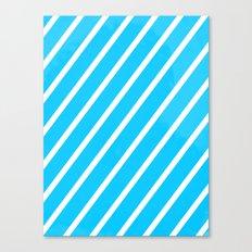 Blue & White Stripes Canvas Print