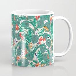 Tropical Frogs in the Jungle - Cream Coffee Mug