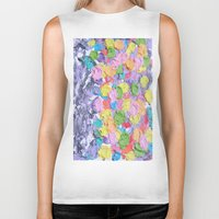ferris wheel Biker Tanks featuring Ferris Wheel  by Laura Jane Mitbrodt