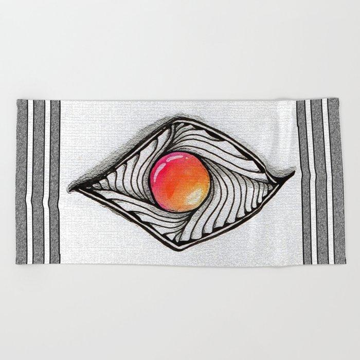 Doodled Gem Sparkle Eye Beach Towel