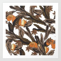 spice Art Prints featuring Spice by Marlene Pixley