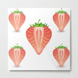 Strawberry Monday! Metal Print