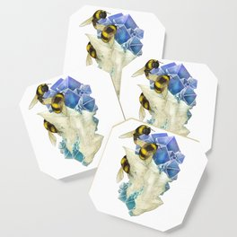 Bees on Fluorite Coaster
