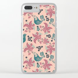 Bird in the nest Clear iPhone Case