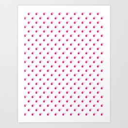 HOT PINK BOMB DIGGITYS ALL OVER LARGE Art Print