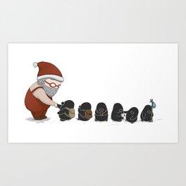 Meeting Santa, (The Unexpected Adventures: Christmas Edition) Art Print
